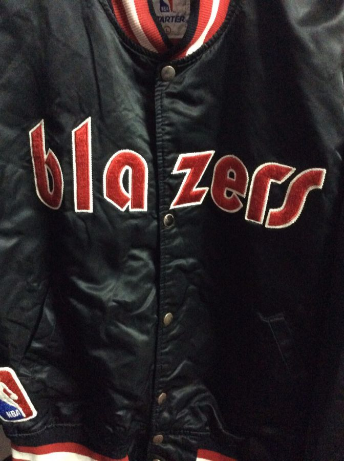 NBA Portland Trailblazers Traditional letter BLAZERS Starter Jacket as-is 3
