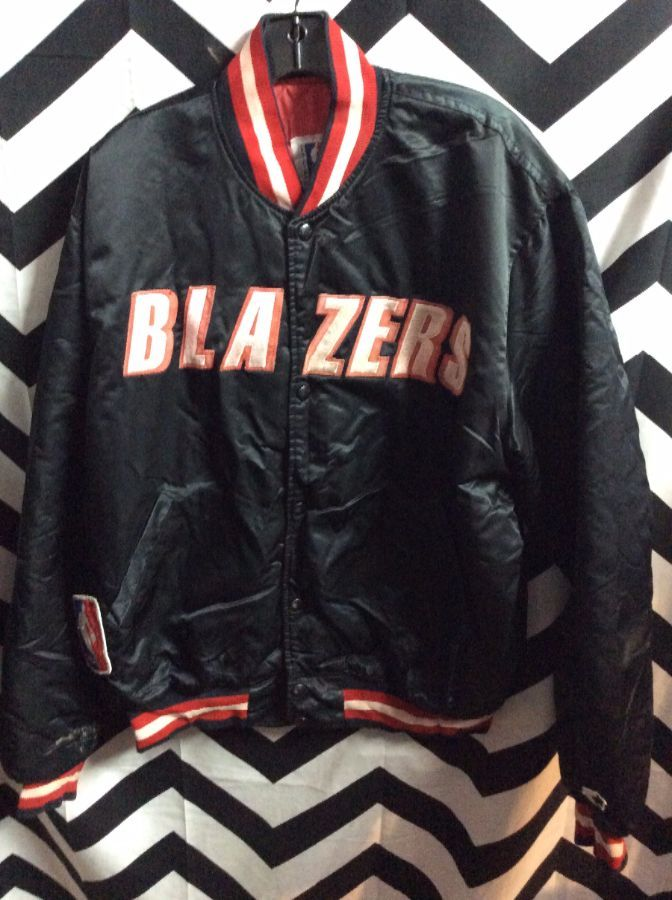 NBA Portland Trailblazers Block letter BLAZERS Starter Jacket as-is 1