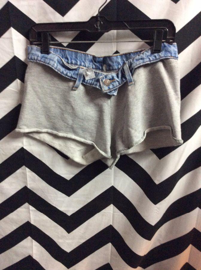 sweatpants cut off shorts