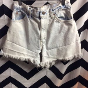 BLEACHED LEVIS DENIM CUT OFF SHORTS FRAYED as-is *white paint splatter 1