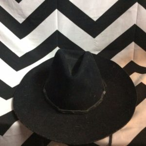 WOOL COWBOY HAT LEATHER CORD 1
