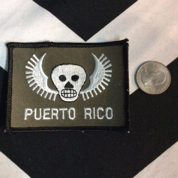 BW Patch- Puerto Rico Skull Patch PM-65 2