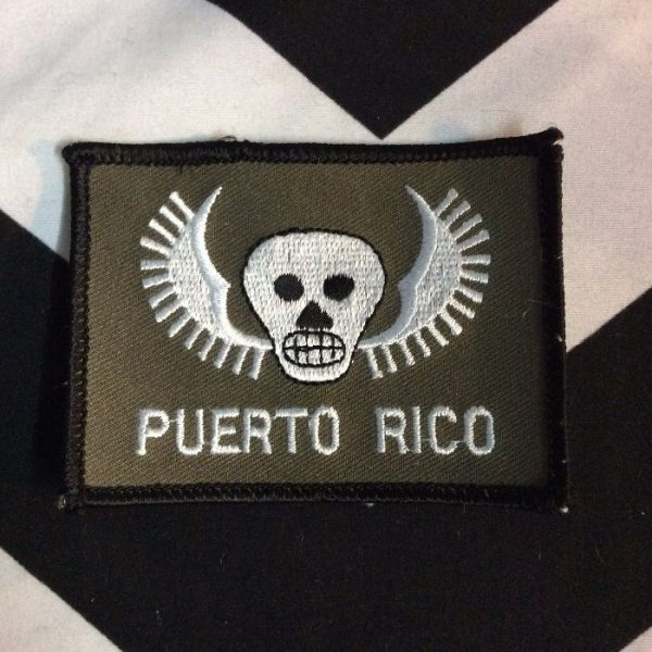 product details: BW PATCH - PUERTO RICO W/WINGED SKULL photo
