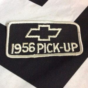PATCH CHEVY 1956 PICK-UP BLACK *deadstock 1