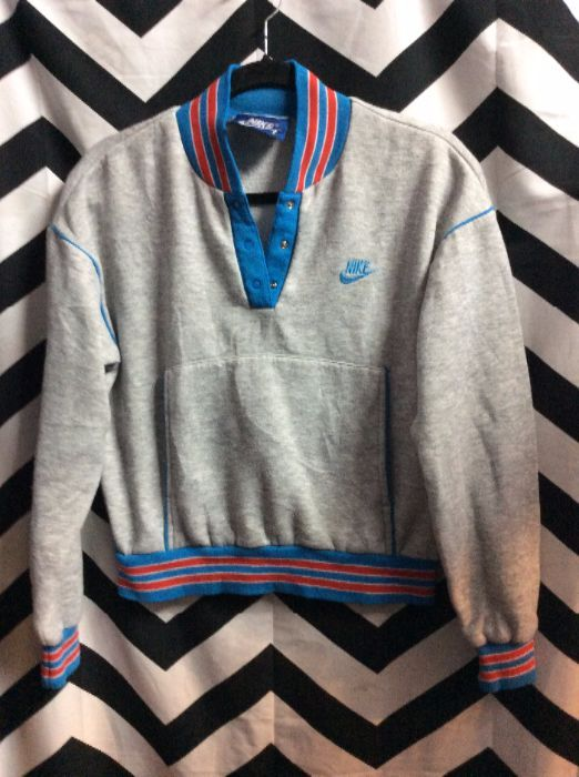 amazon catch official RETRO NIKE SWEATSHIRT – PULLOVER – STRIPED TRIM