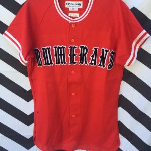 Retro Japanese Baseball Jersey Bumerans 1