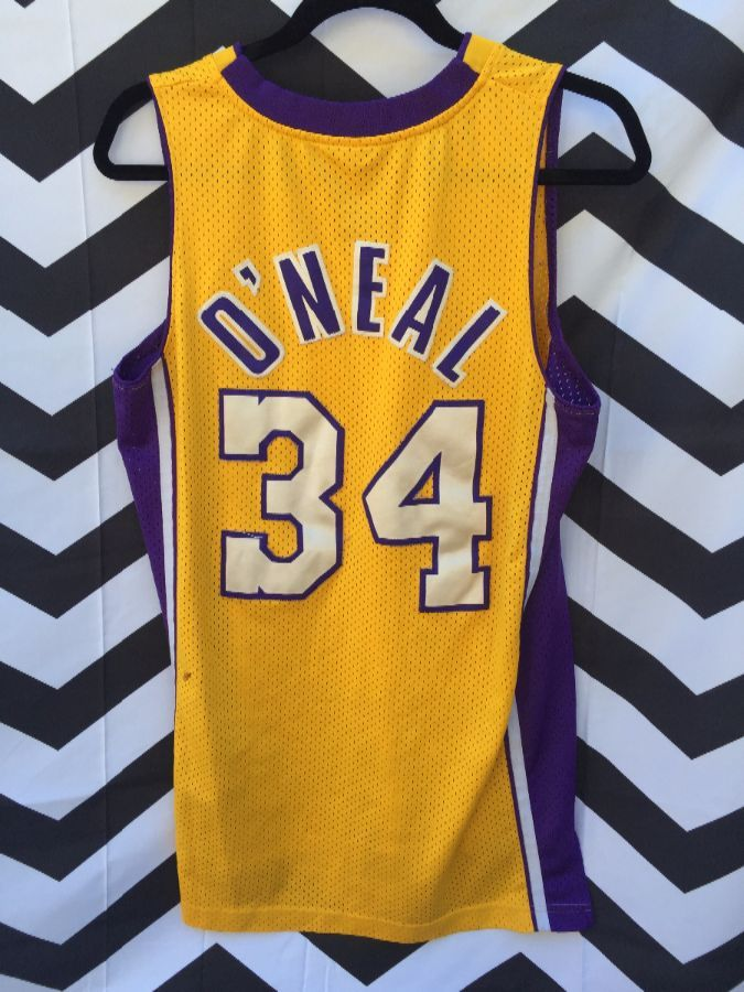 REEBOK BASKETBALL JERSEY, LOS ANGELES LAKERS, #34 SHAQ ONEAL, NBA ...