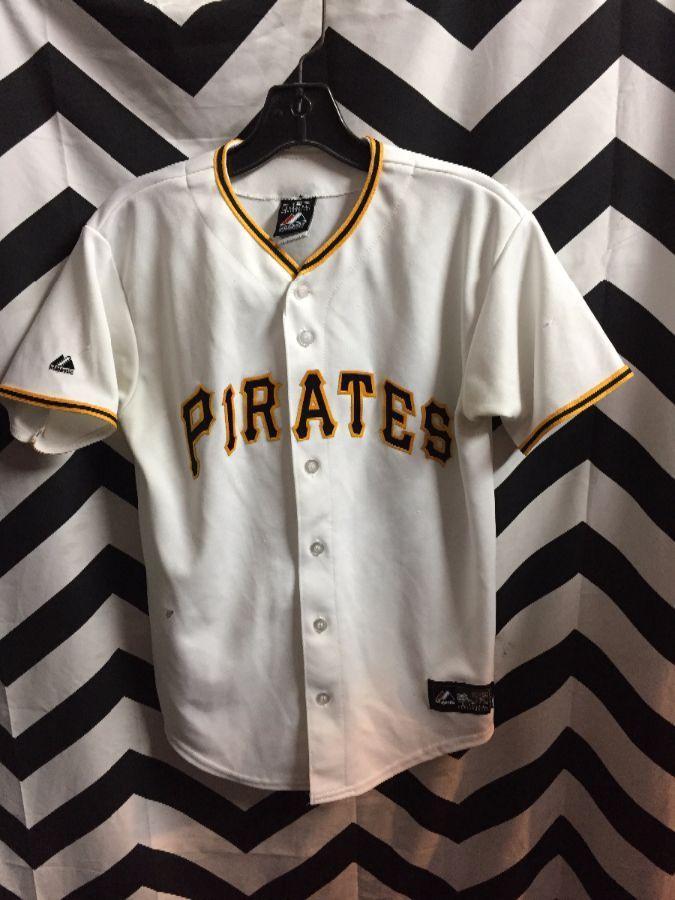 buy popular adb62 3a626 MAJESTIC BASEBALL JERSEY, SHORT SLEEVE, BUTTON-UP, PITTSBURGH PIRATES #22  MCCUTCHEN, MLB