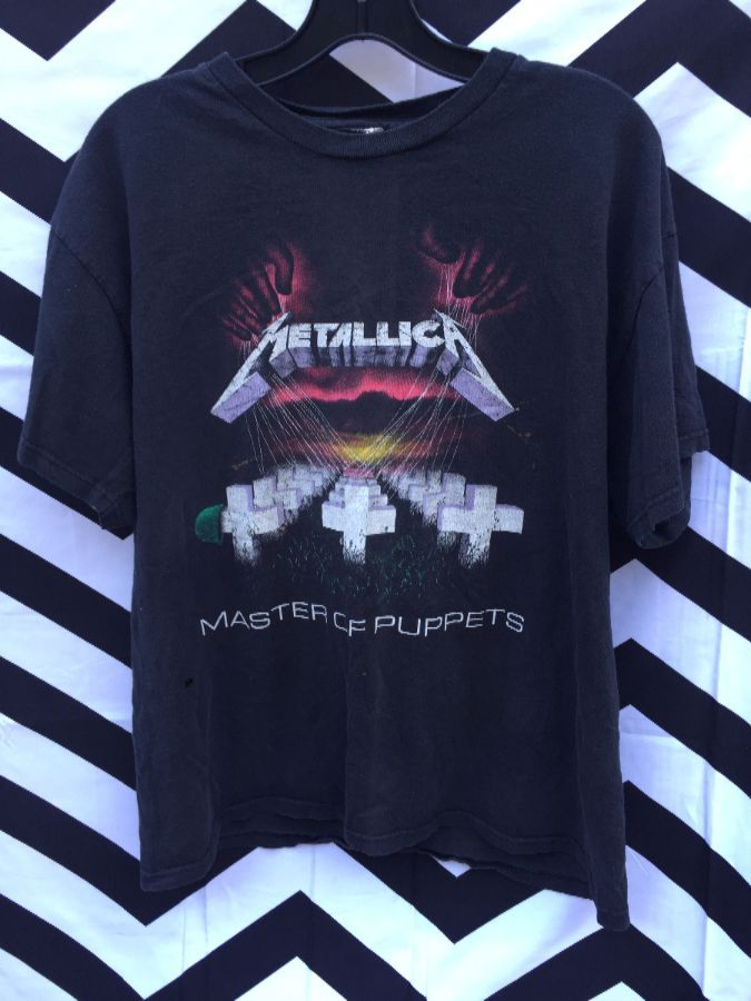 2e69df9d VINTAGE T-SHIRT, METALLICA – MASTER OF PUPPETS, SCREEN PRINTED FRONT & BACK  DESIGNS