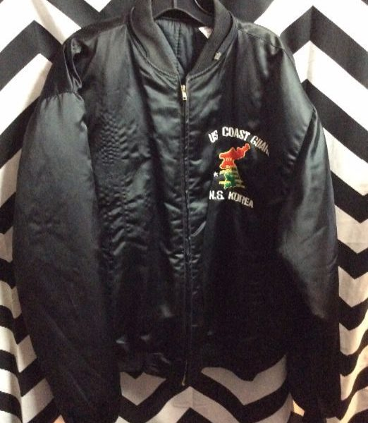 SILK EMBROIDERED KOREA TOUR JACKET DRAGON US COAST GAURD 2