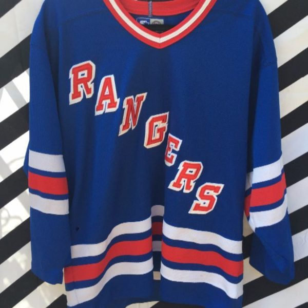 466cf9e8a4eca5 STARTER HOCKEY JERSEY, NEW YORK RANGERS, EMBROIDERED FRONT LETTERING ...