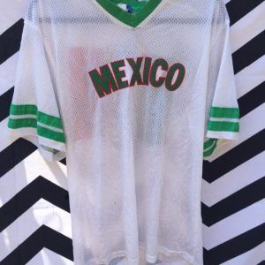 SOCCER JERSEY MESH RINGER MEXICO 1