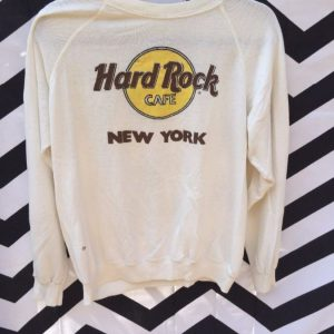 PULLOVER SWEATSHIRT HARD ROCK CAFE NEW YORK super soft Super thin as-is 1