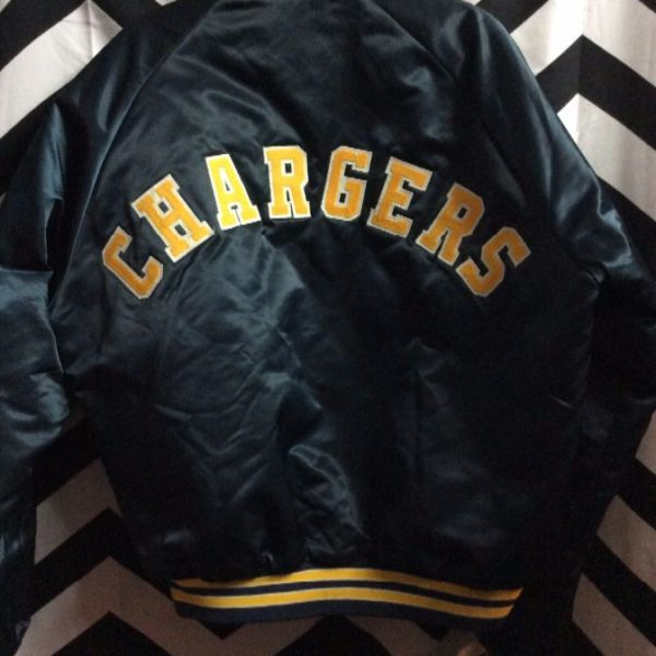 the latest 7e37a 76eb5 CHALKLINE SPORTS JACKET – SATIN – BUTTON-UP – SAN DIEGO CHARGERS – HELMET  FRONT DESIGN – LETTERING ACROSS BACK – NFL