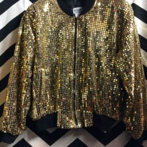 GOLD SEQUIN BOMBER JACKET 1