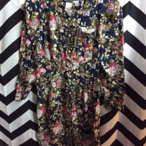 LS MINI DRESS PEARL BD FLORAL PRINT 1