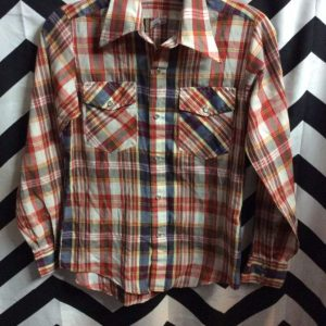 LIGHT WEIGTH PEARL SNAP SHIRT PLAID 2