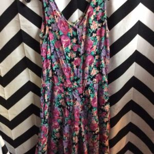 SLEEVELESS RAYON DRESS 90S FLORAL 1