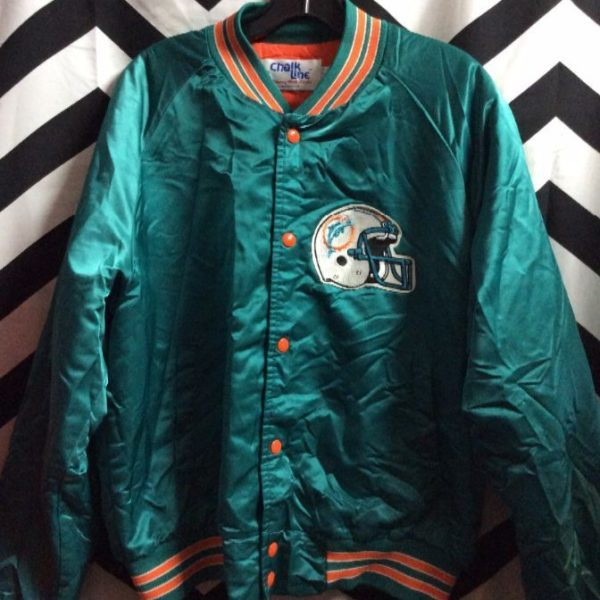 b8fc86329 CHALKLINE SPORTS JACKET - SATIN - BUTTON-UP - MIAMI DOLPHINS ...