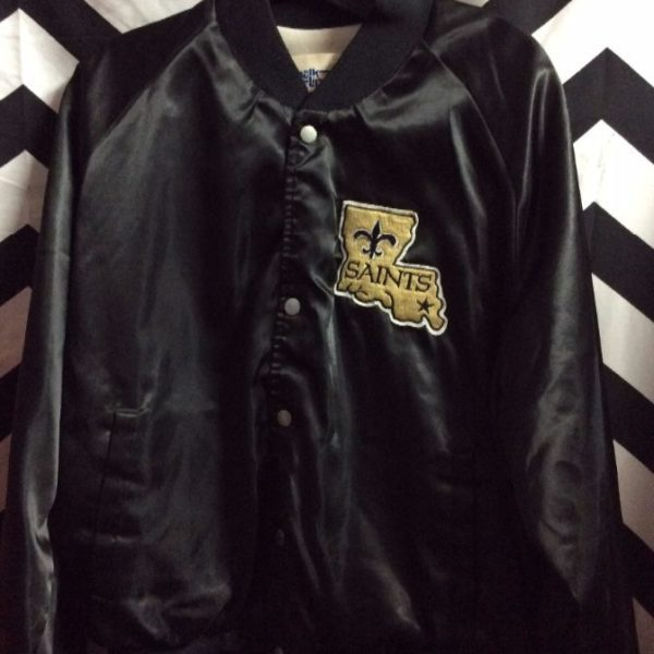 CHALKLINE SPORTS JACKET SATIN BUTTON UP NEW ORLEANS SAINTS  hot sale