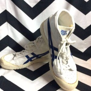 HIGH TOP ASICS TIGER LEATHER TRAINERS 1