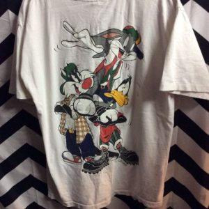 TSHIRT LOONEY TOONS 90S HIPHOP BUGS BUNNY SYLVESTER DAFFY 1