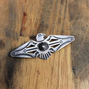 Old Navajo Thunderbird Pin Brooch 1