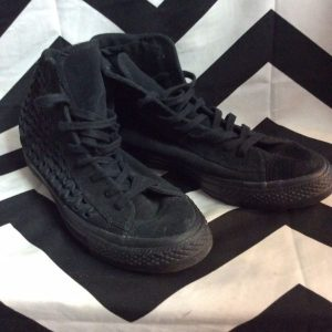 BRAIDED LEATHER CONVERSE ALL STAR HIGH TOP 1