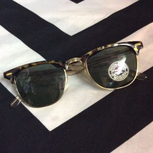 80'S STYLE GOLD AND TORTOISES FRAME SUNGLASSES *DEADSTOCK 1