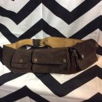 SUEDE LEATHER POCKET MONEY BELT 1