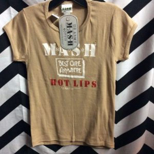 *DEADSTOCK* *M*A*S*H* COTTON BABY TEE *original 1981 Stock HOT LIPS mash 1