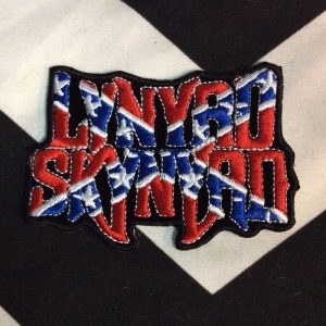 BW PATCH- 4111 Lynard Skynard Confederate Flag Patch 1