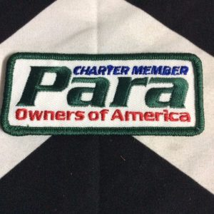 BW PATCH Para Charter member Owners of America 1