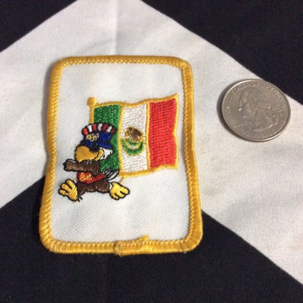 PATCH- OLYMPIC EAGLE MEXICO FLAG 1984 2
