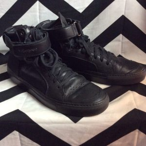 HIGH TOP SNEAKERS LEATHER PANEL TOP STRAP 1