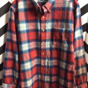 LS BD Plaid Pendleton Red, Grey, blue 1