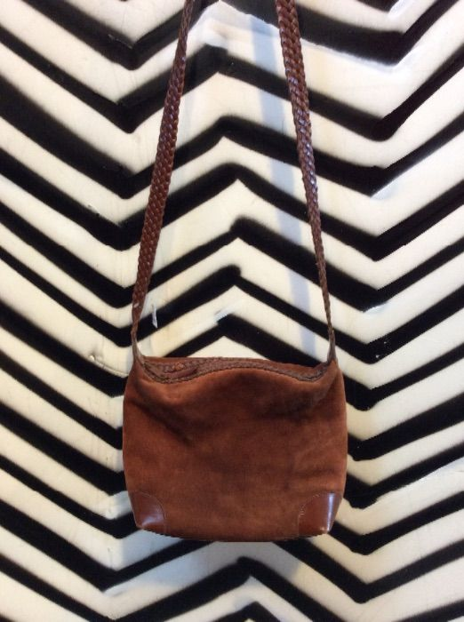 product details: SUEDE & LEATHER PURSE BRAIDED STRAP photo