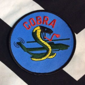 BW Patch- Cobra Blue Circle Patch PML-051 1