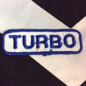 PATCH BLUE TURBO TEXT *deadstock 1