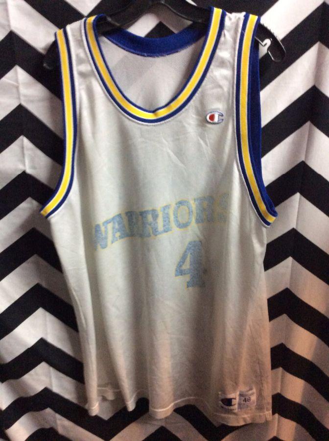 c6b5850b CHAMPION BASKETBALL JERSEY – GOLDEN STATE WARRIORS – WEBBER #4 – FADED – NBA