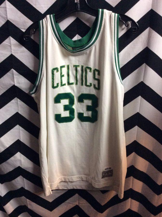 new product 472b2 11667 1985-1986 THROWBACK BASKETBALL JERSEY - BOSTON CELTICS - BIRD #33 - NBA
