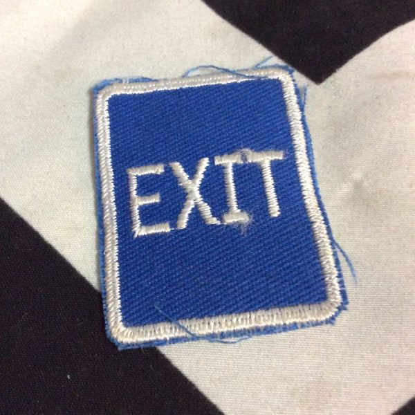 PATCH MINI EXIT (blue) *old stock 1