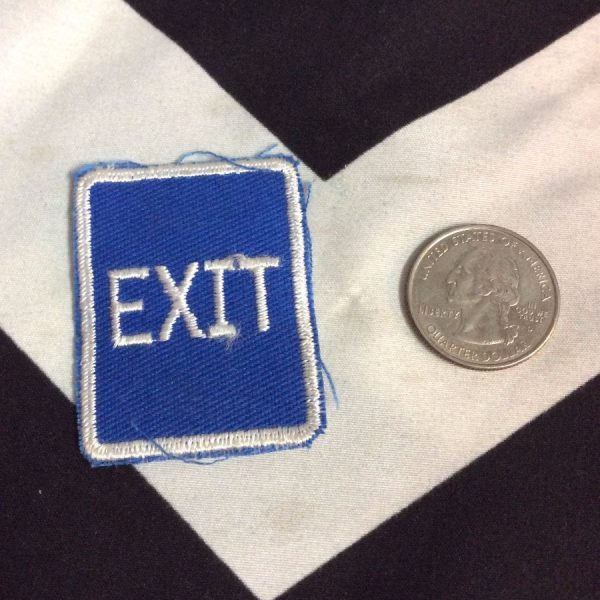 PATCH MINI EXIT (blue) *old stock 2