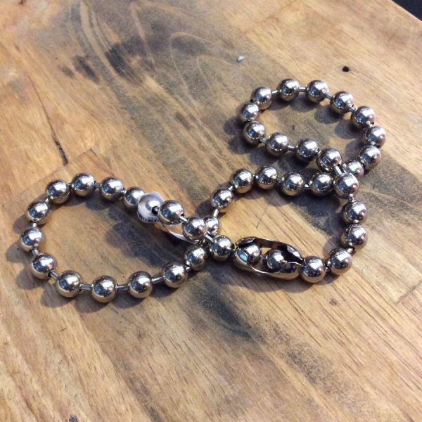 1990s Chunky Ball Chain Chokers Stainless steel 1