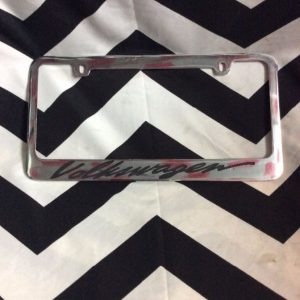 LICENSE PLATE COVERS- VOLKSWAGEN 1