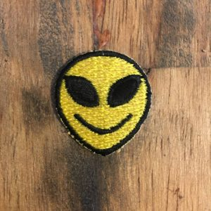 PATCH- LITTLE ALIEN FACE YELLOW 0