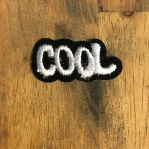 PATCH- COOL Lettering *80s stock (Blk/White) 0