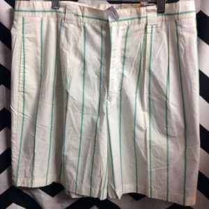 DEADSTOCK VERTICAL STRIPED MENS COTTON SHORTS 1