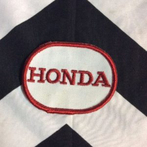 *Deadstock Honda LOGO Round White & Red Patch *old stock 1
