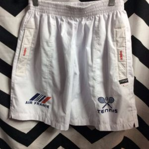 ADIDAS COTTON TENNIS SHORTS AIR FRANCE 1